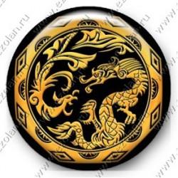 Феникс и дракон (объемный талисман-наклейка)