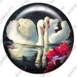 Лебеди любви и верности (объемный талисман-наклейка)
