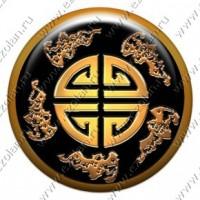 """Китайский талисман """"Пять благ"""" (объемный талисман-наклейка)"""